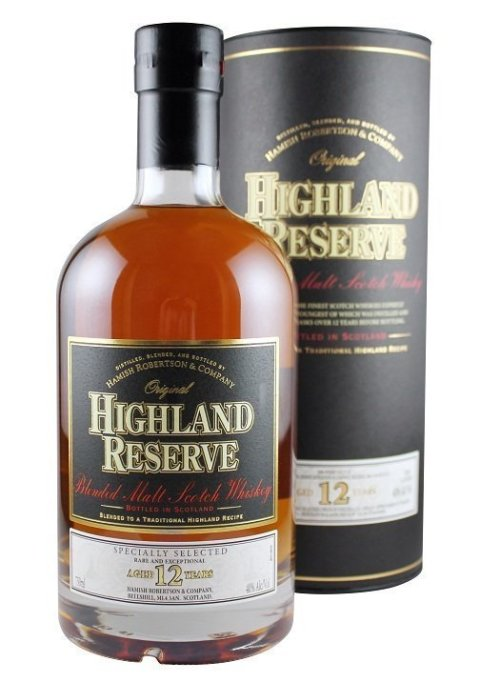 highland reserve Review: Highland Reserve Blended Malt Scotch Whisky 12 Years Old