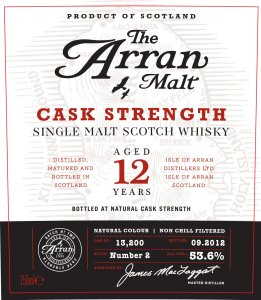 Arran 12 years old Cask Strength 261x300 Review: The Arran Malt 12 Years Old Cask Strength