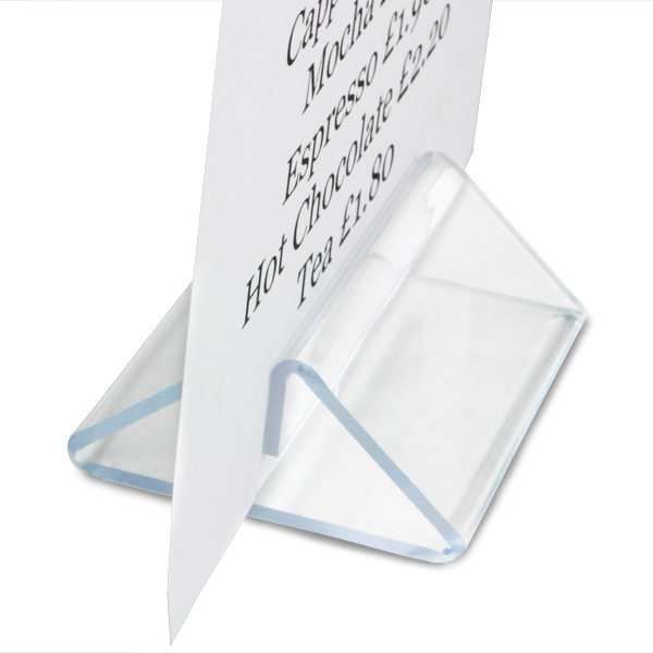 Perspex Tent Menu Holder To Display A4 And A5 Menu Cards