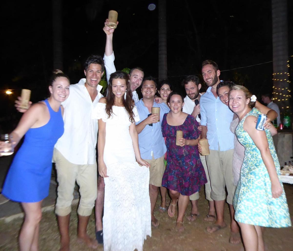 Oksana and Australian friends at the wedding. Costa Rica