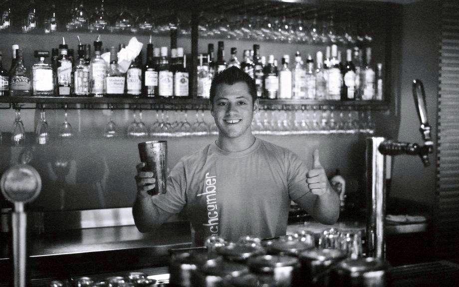 Jeremy behind the bar in St Kinda in Melbourne, Australia. Photo courtesy of Jeremy Scott Foster