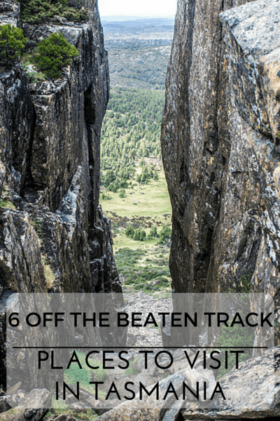 Tasmania is a paradise for nature lovers and there is no better way to get closer to nature then by visiting these 6 great off the beaten track places!