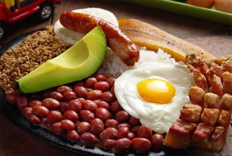 Bandeja Paisa. Colombia food.