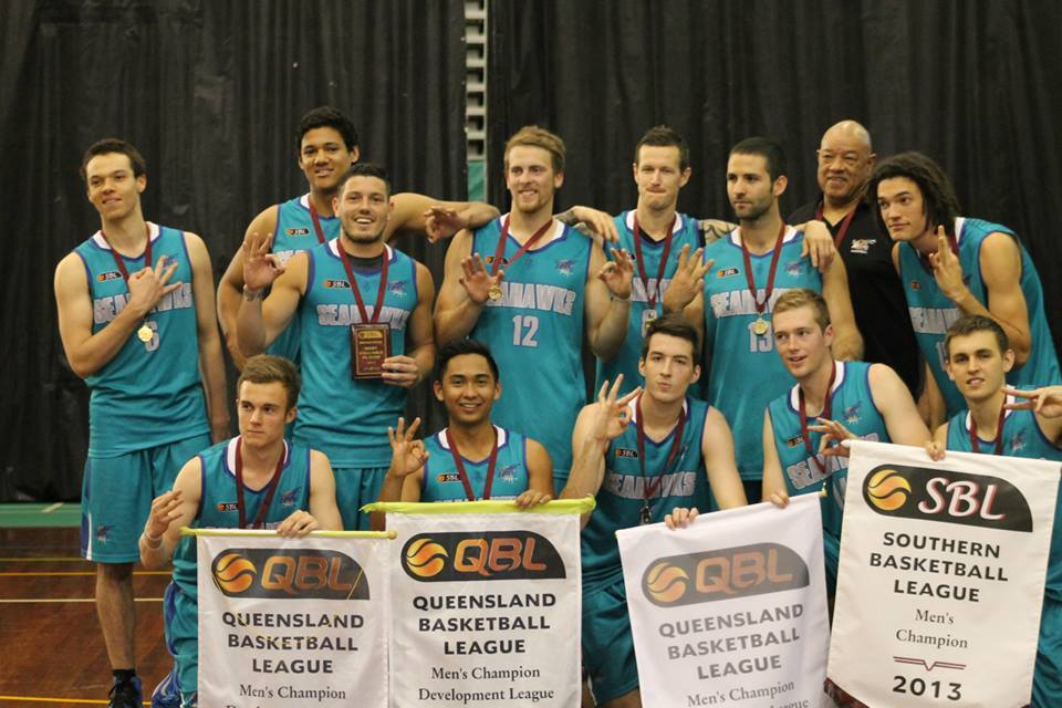 Max and the North Gold Coast Seahawks after their 3rd Championship Win in 2013