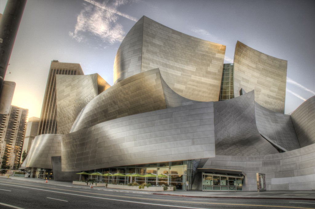 Disney Concert Hall, Downtown Los Angeles. Photo via Flickr CC Neil Kremer