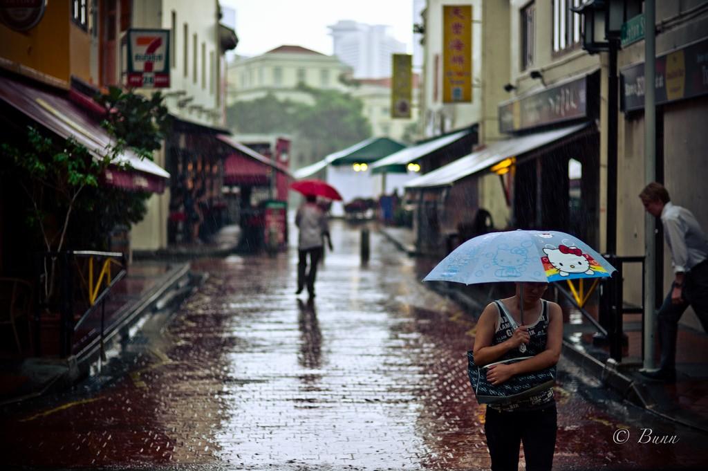 Rainy in Singapore. Photo by _Bunn_ via Flickr CC