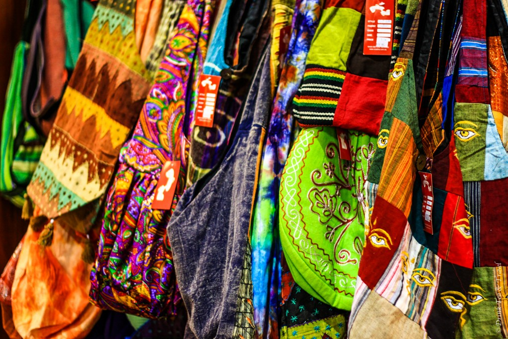 Hippy bags for sale at the market