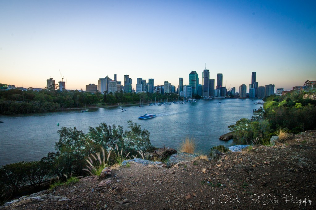 View from Kangaroo Point, Brisbane, Australia