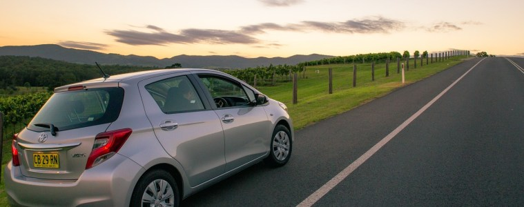 Car in Hunter Valley, Australia