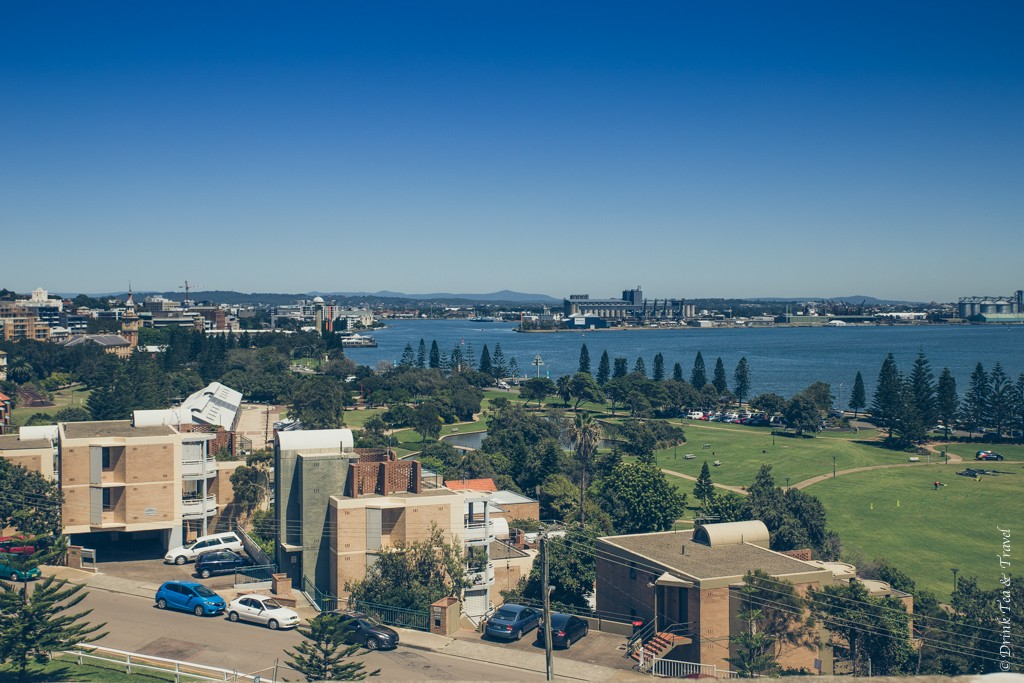 View of the Foreshore and Hunter River form the top of Fort Scratchley. Newcastle. Australia