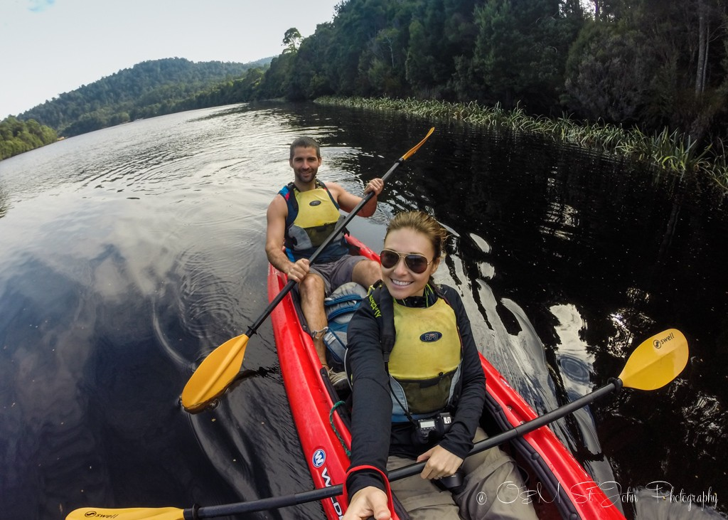 Selfie from the kayak! Whyte River. Corinna