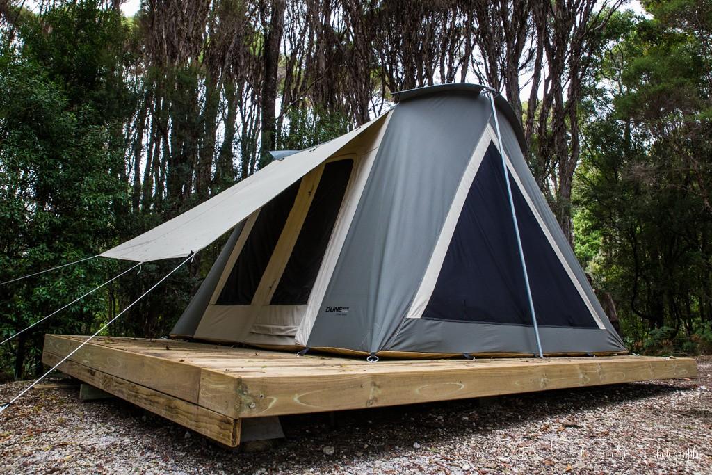 Permanent luxury tents available to Tasmanian Safari customers, Corinna