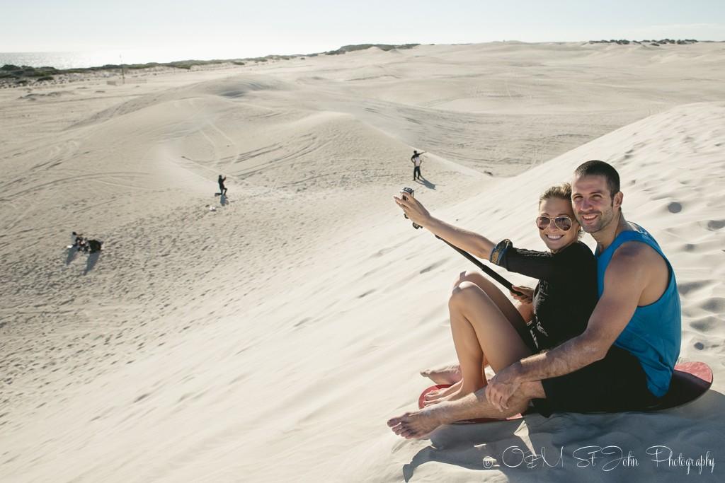 Sandboarding in Lancelin, Western Australia