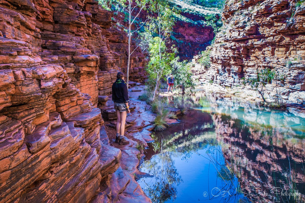 At the start of the Hancock Gorge trail. Karijini National Park. Western Australia