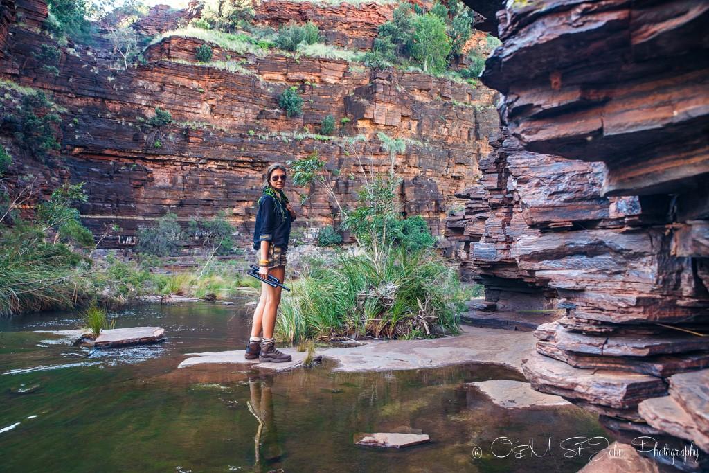 Dales Gorge trail. Karijini National Park. Western Australia
