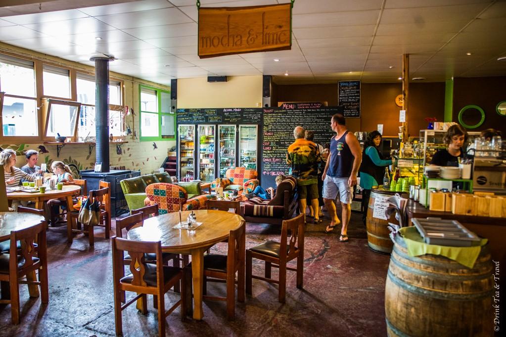 Inside the Mocha & Lime cafe