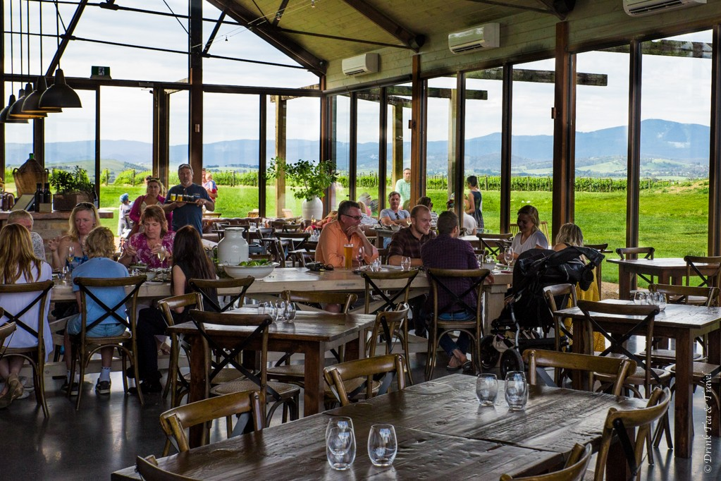 Inside the Meletos Cafe in Yarra Valley