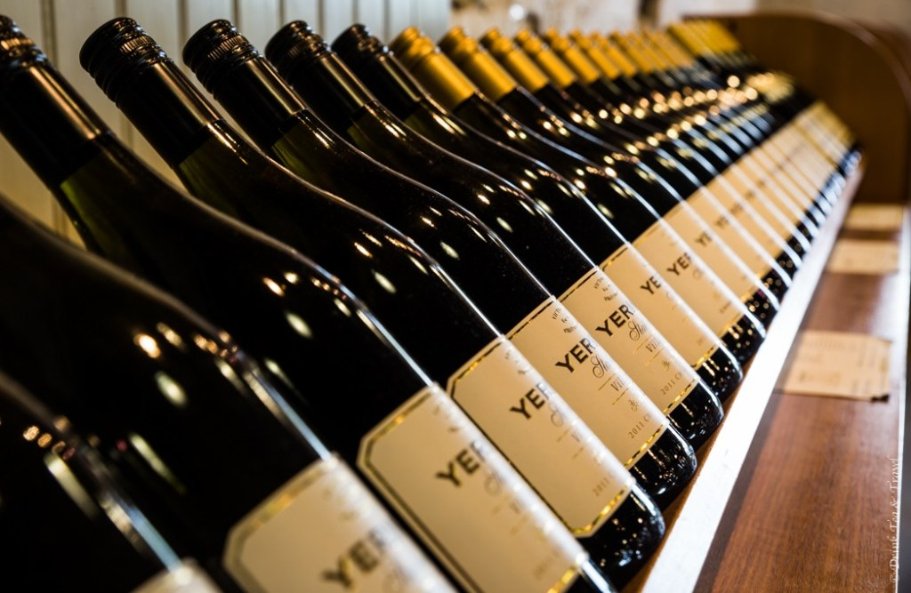 Wine displays at Yerring Station