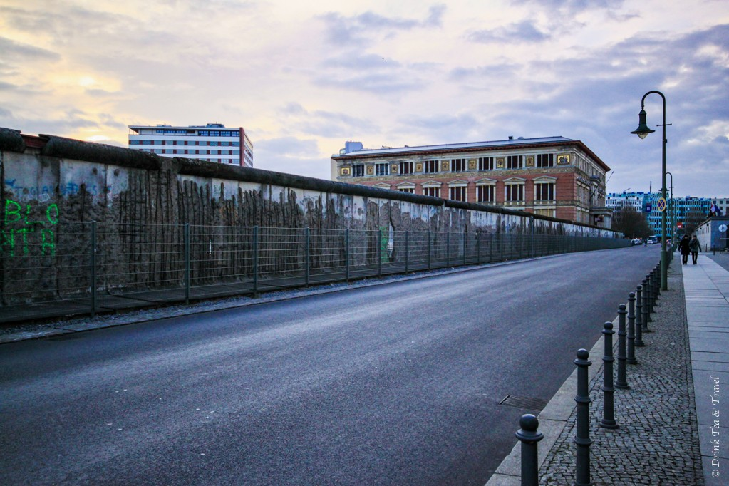 One of the 3 parts of the Berlin Wall that are still standing today