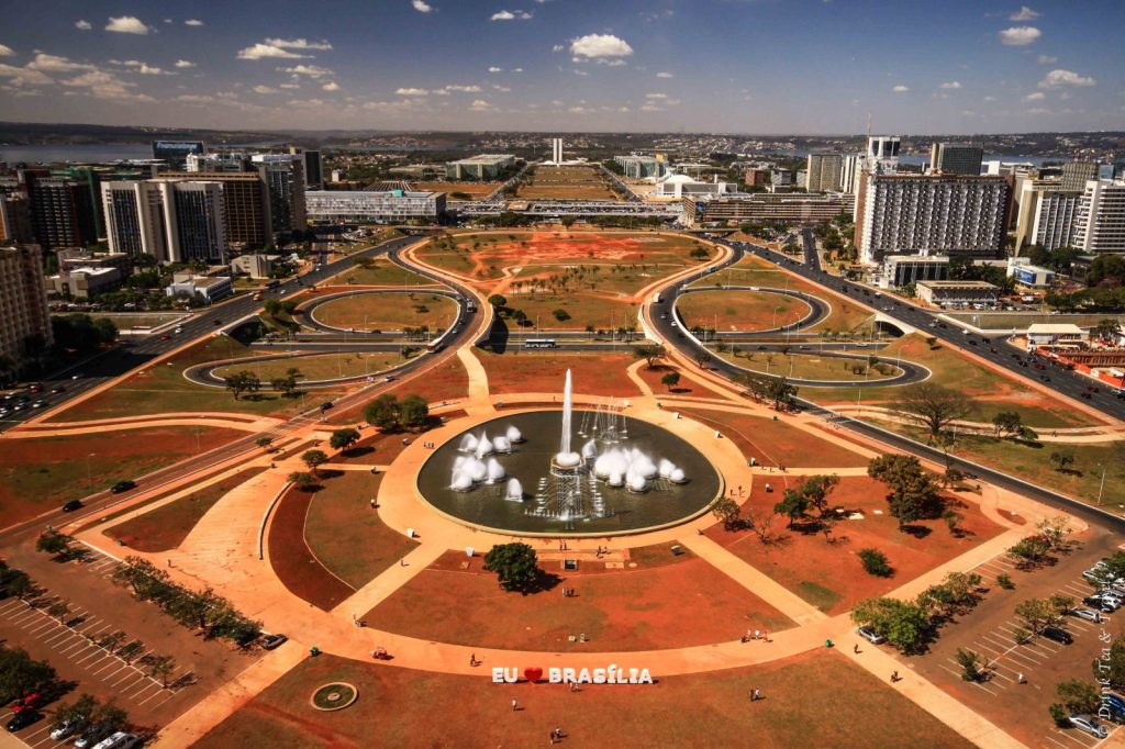 View of Brasilia from the top of the TV Tower