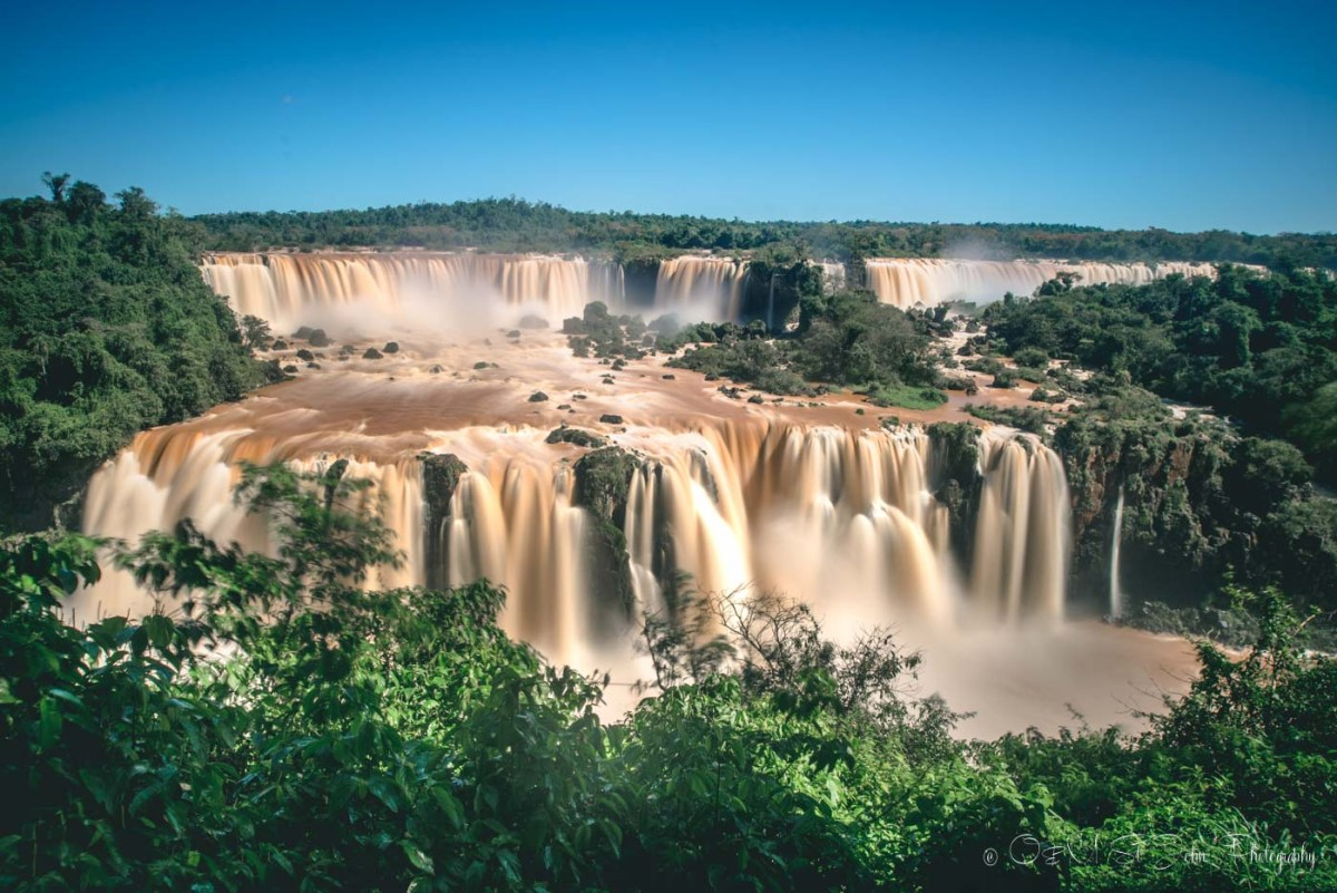 The iconic view of the Iguazu Falls along the trail