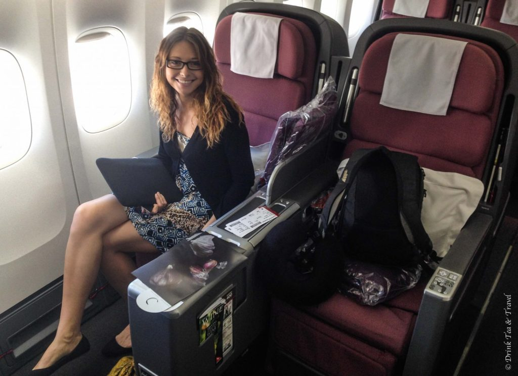 Packing tips: Pack a nice dress just in case you have to ride in Business Class
