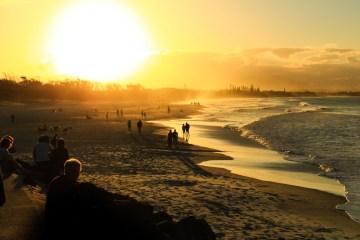 Sunset on Byron Bay Main Beach