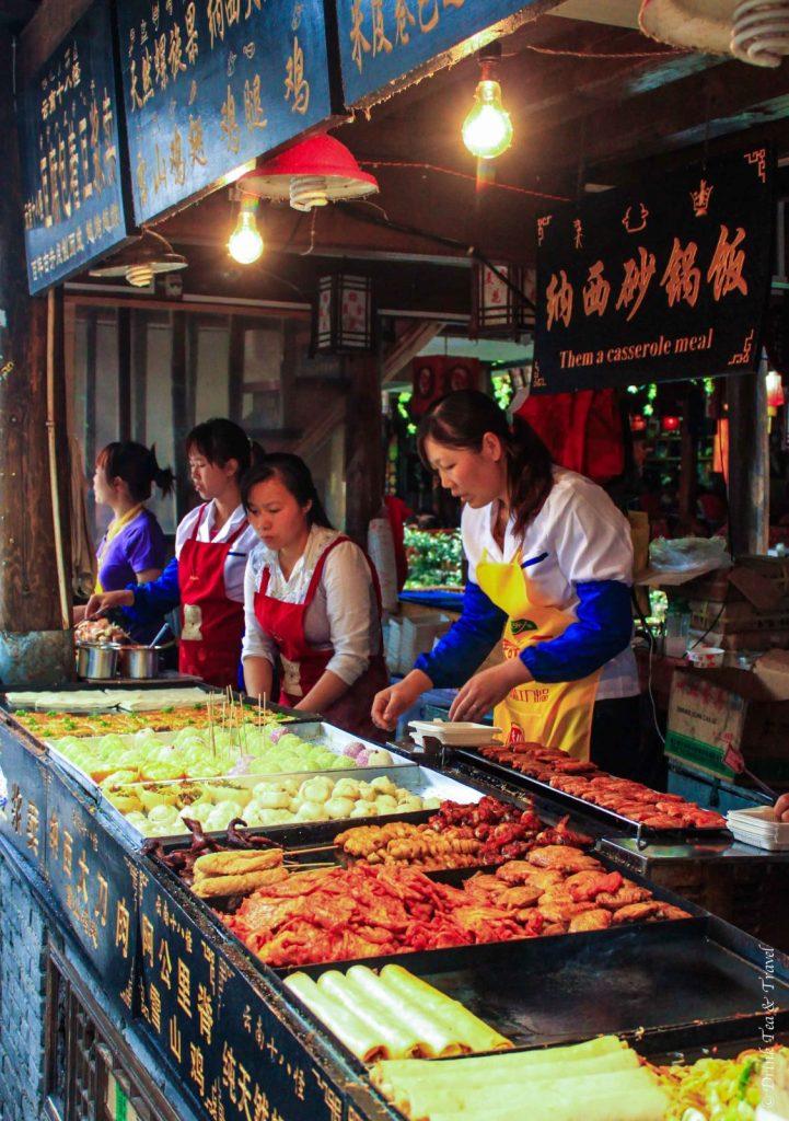 Street market stall in Lijiang, Yunnan, China
