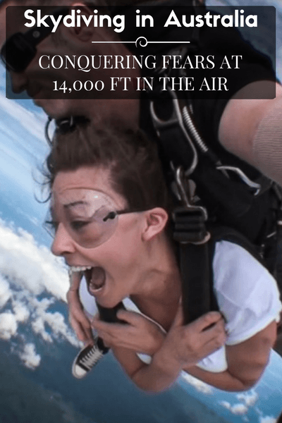 Skydiving has been on my bucket list for a while and this day I finally conquered my fears by Skydiving in Australia!