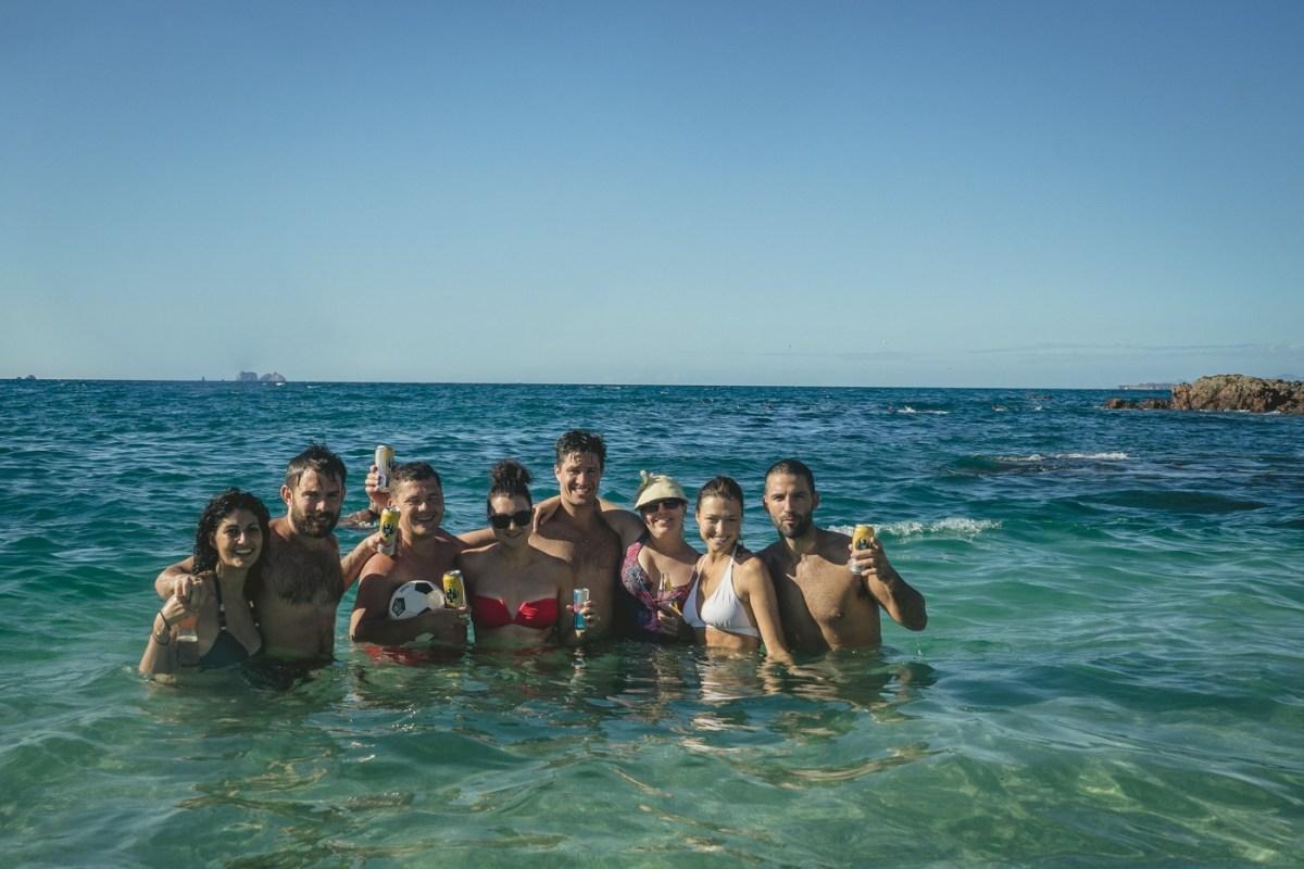 Max & Oksana with friends at Playa del Coco. Costa Rica