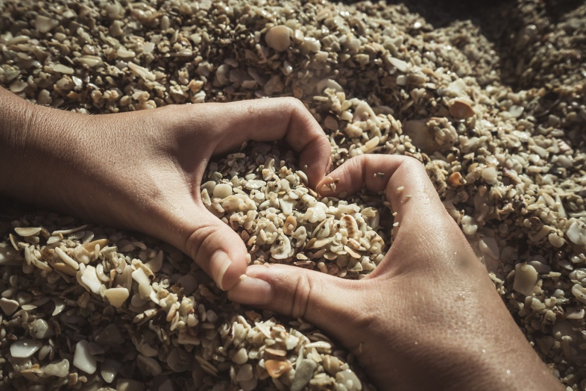 Love heart. Beach Costa Rica