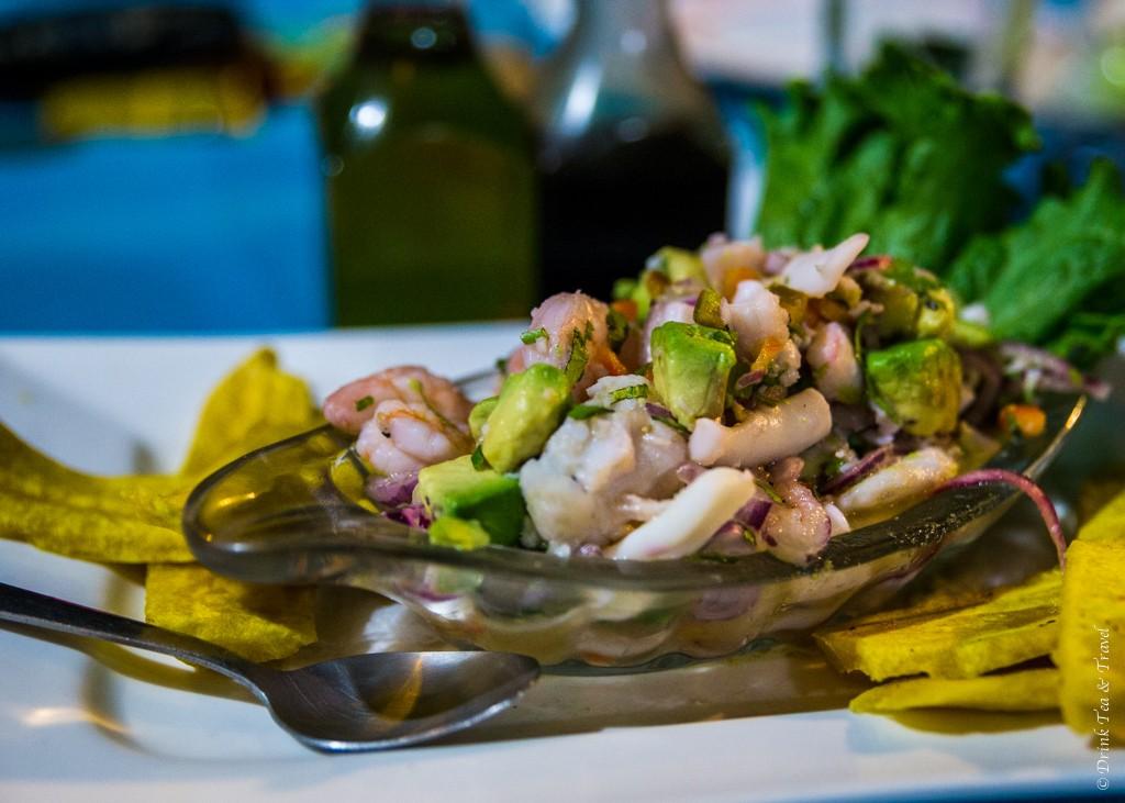Costa Rica food: Ceviche