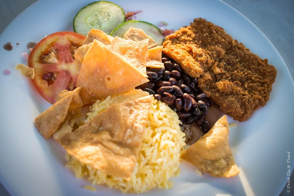 Costa Rican Food: Costa Rican Casado at a local restaurant