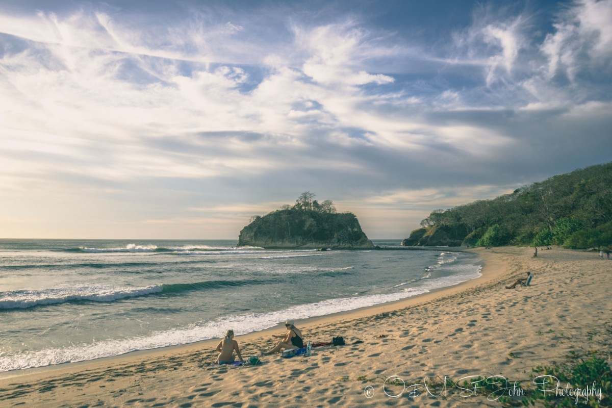 Much more secluded section of Playa Pelada. Nosara. Costa Rica