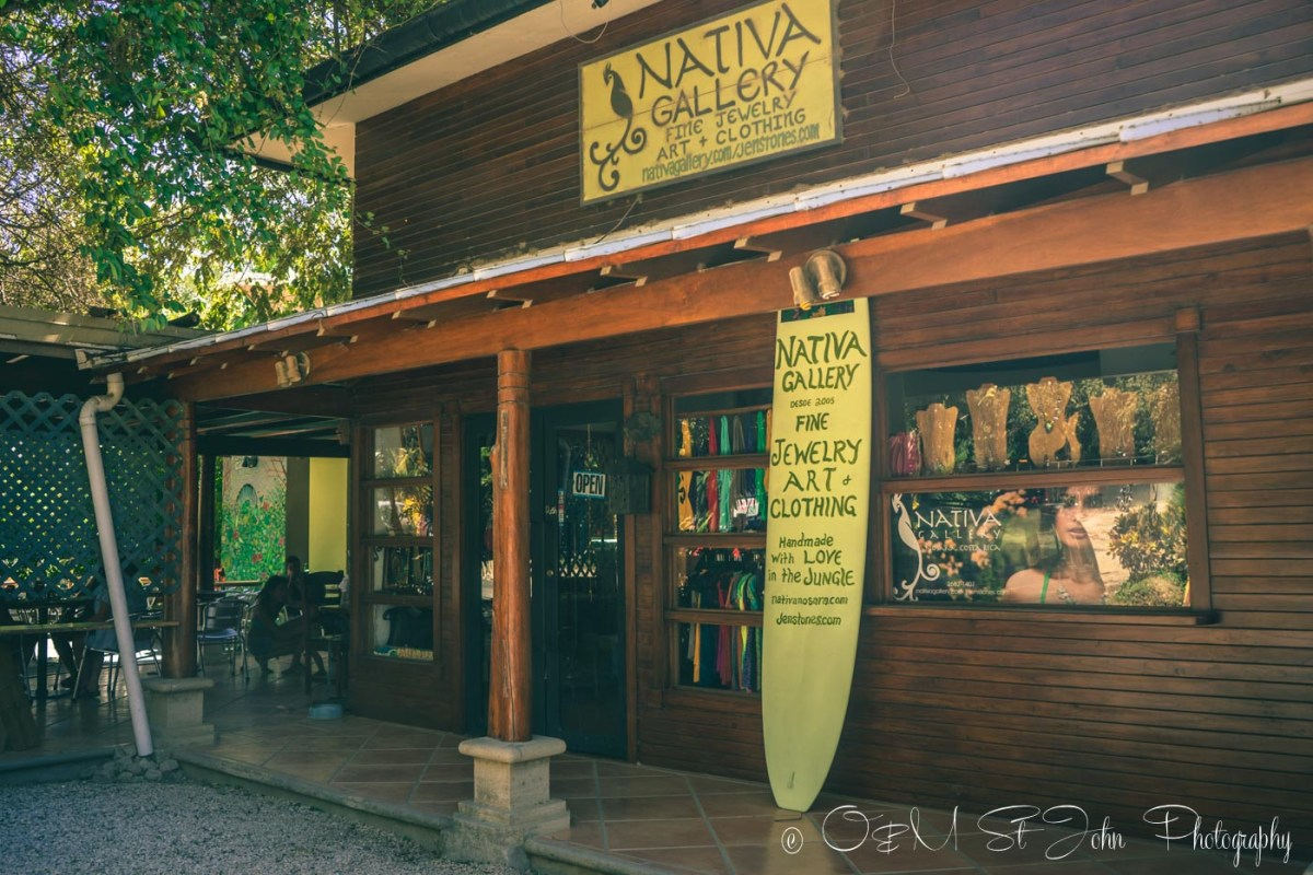 One of the few shops in Downtown Playa Guiones. Nosara. Costa Rica