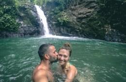 Max & Oksana at Uvita Waterfall in Uvita, Puntarenas, Costa Rica