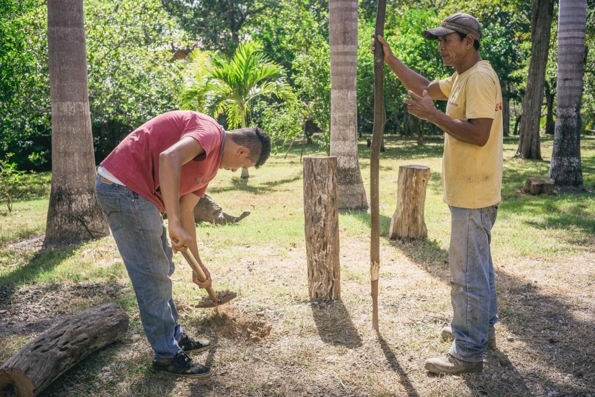 Locals helping with wedding. Lagartillo. Costa Rica