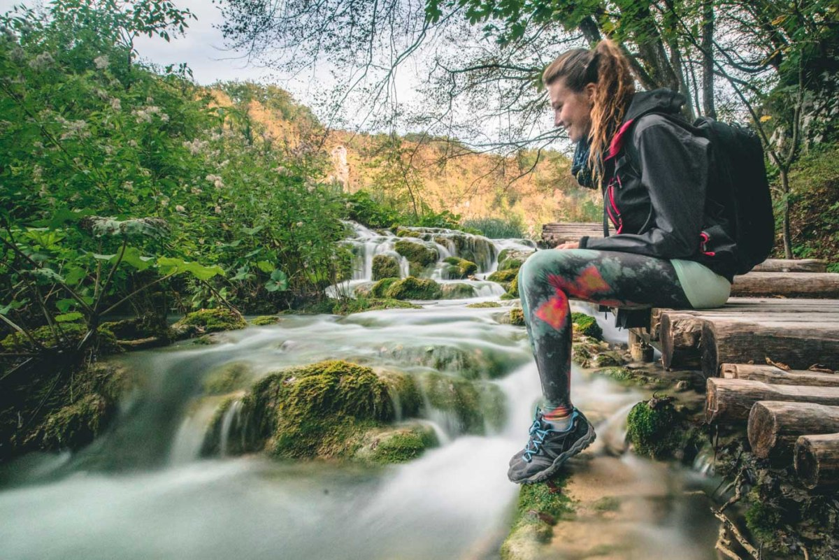 Sporting her Teeki pants in Croatia