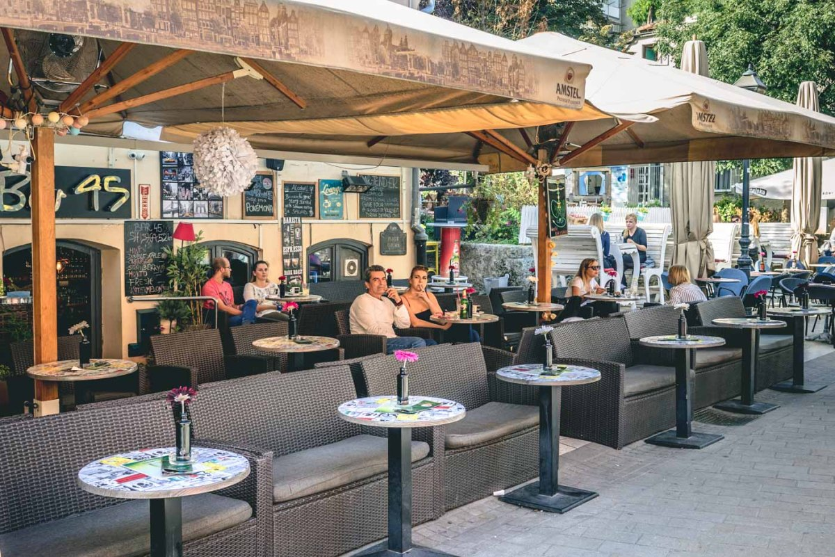 Hanging out in cafes is a part of Croatian cutlure