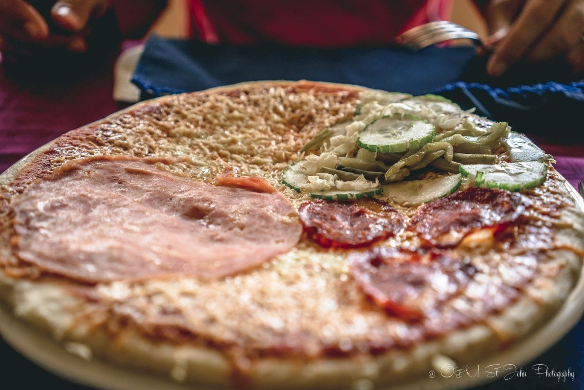 Four Station Pizza at a state run restaurant in Baracoa