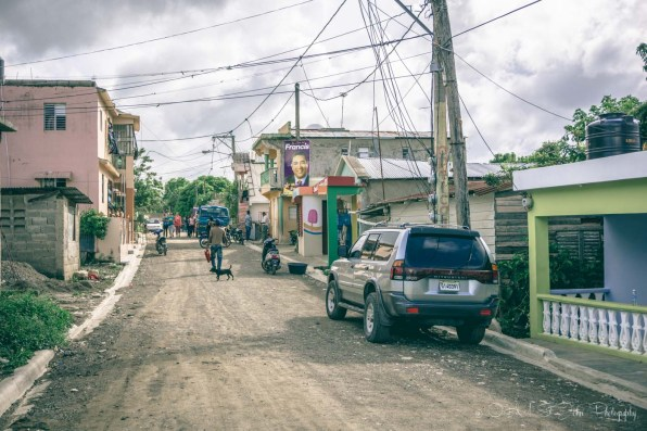 Rural street in Puerto Plata, Dominican Republic