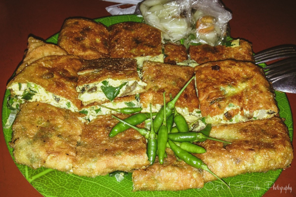 Martabak with egg and chives. Indonesian Food