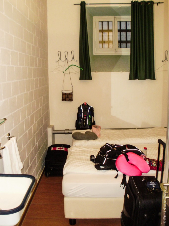 Inside the prison cell aka our hotel room in Lucerne, Switzerland
