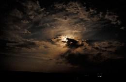 Cloudy sky at night