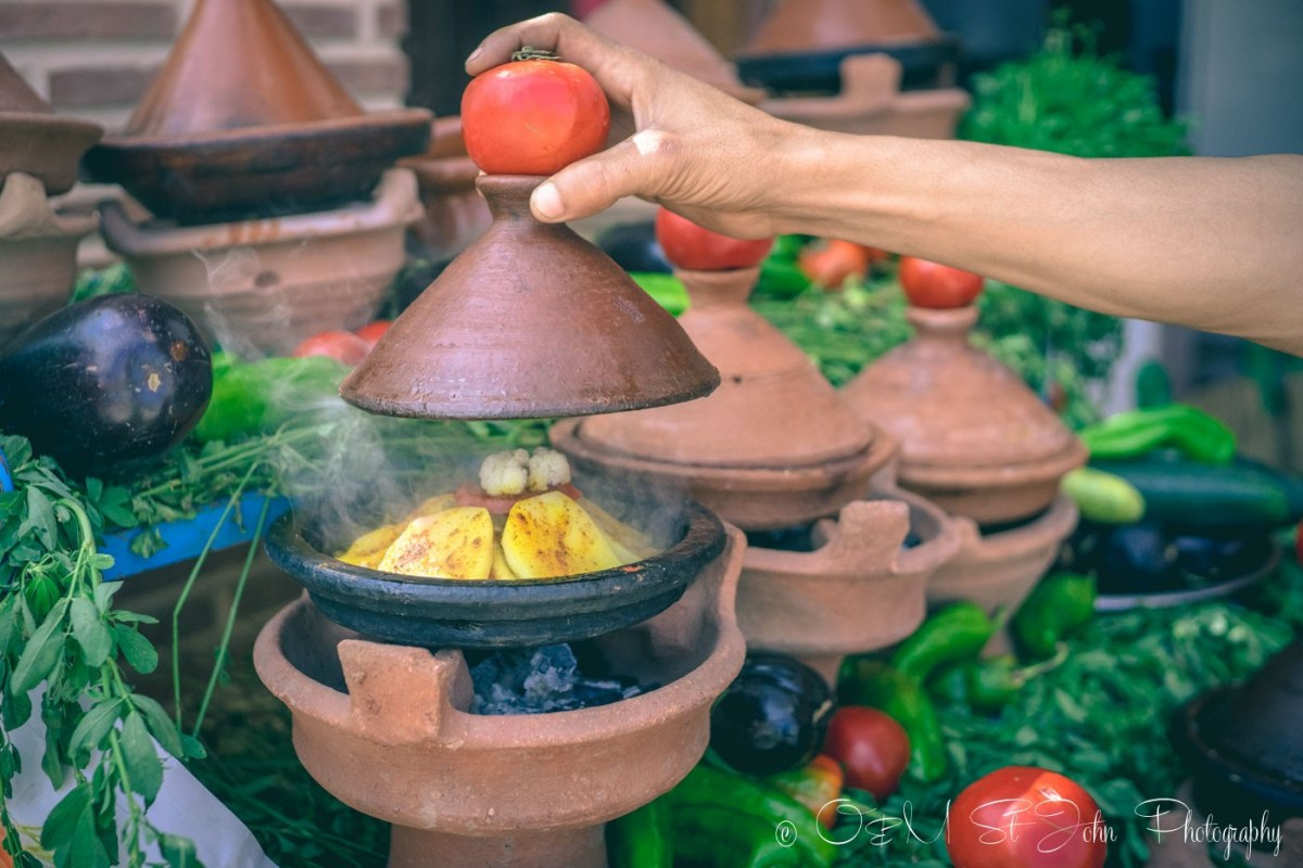 Food in Morocco: Moroccan tagine cooking in the traditional tagine pot