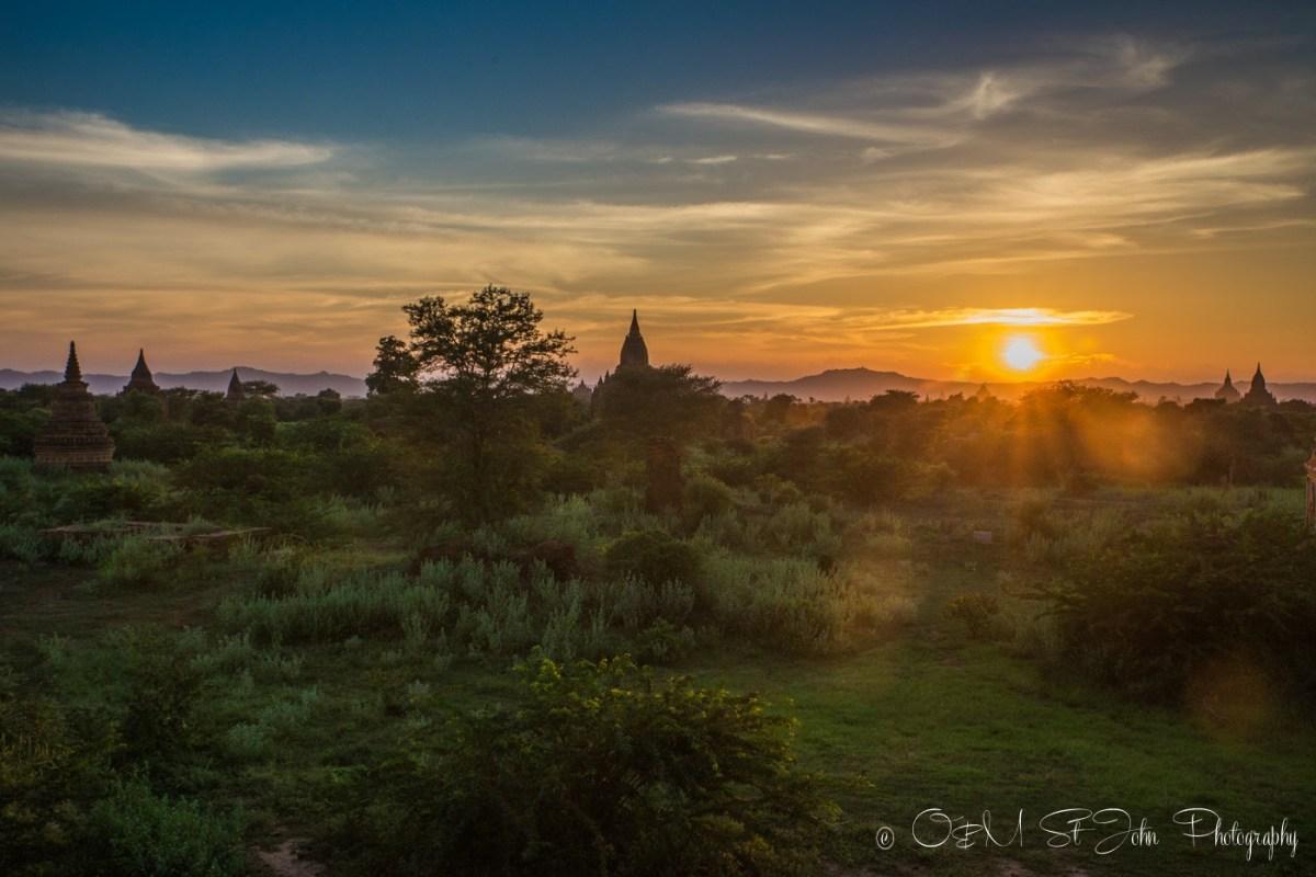 Sunrise in Bagan. Myanmar