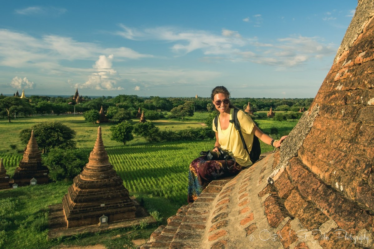 Waiting for a sunset view on top of a small pagoda in Bangan. Myanmar