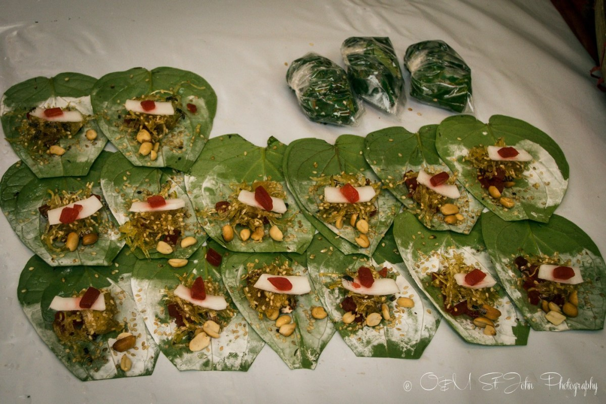 Betel nut wraps ready for sale. Yangon, Myanmar