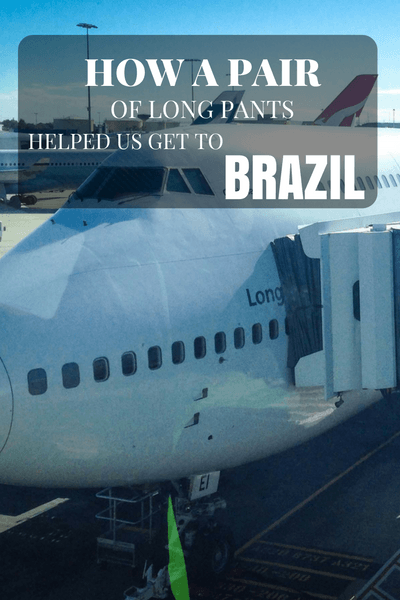 One couple's crazy adventure on the way to Brazil World Cup. A story of a missed flight, travel insurance, and long pants.