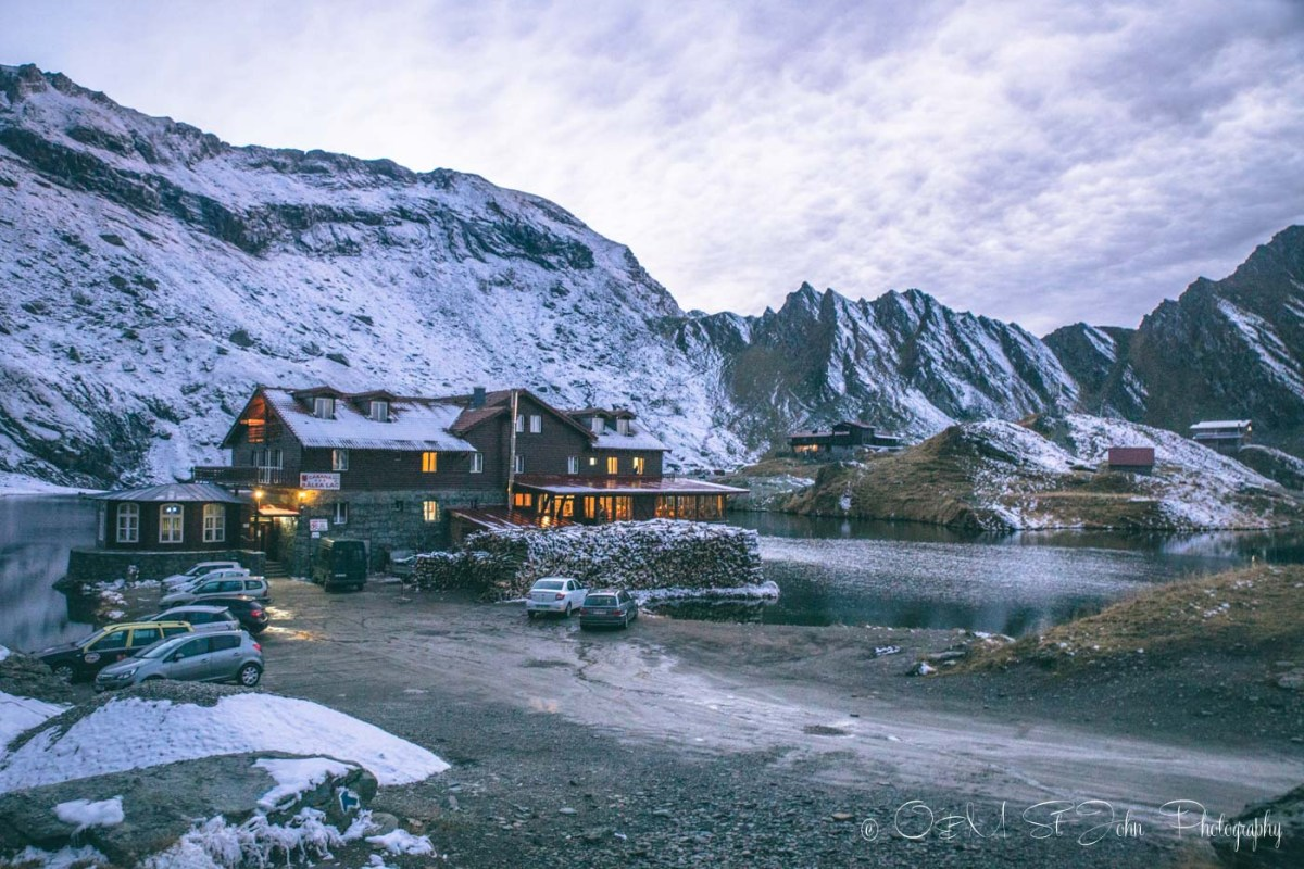 Balea Lake Chalet, our accommodation along the Transfagarasan Highway. Roadtrip in Romania